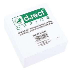Špalíček papírový nelepený ŠIROKÝ 9,0x9,0x5,0cm BÍLÝ