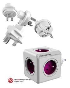 Zásuvkový systém PowerCube Rewirable+Travel Plugs (fialový)