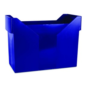 Krabice archivní DONAU na závěsné desky typu Pendaflex, pevná, tm.modrá
