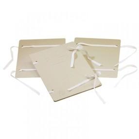 Deska s tkanicí A4 EKO šedá (přírodní)