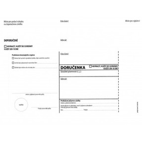 DORUČENKA bez pruhu (bílá), C5 (162x217mm)  samopr.odtrh.okno, vlhčící, POUČENÍ,1145762
