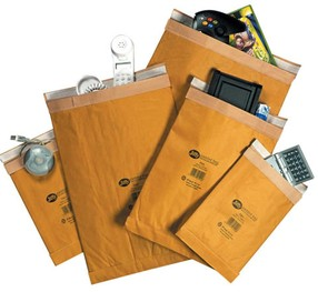 Taška JIFFY s ochrannou výplní č.1 180 x 280, samol. (165 x 280 vnit.roz.), balení 100ks
