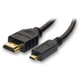 Kabel HDMI A/microHDMI A, 2m, černý