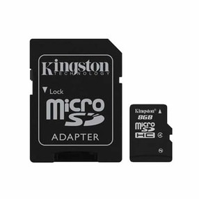 SD Card  8GB SDHC Micro s SD adapterem