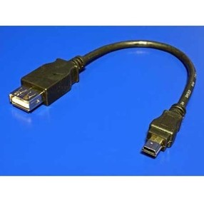 Kabel USB kabel (2.0), A socket/miniUSB, 0,2m