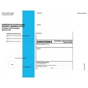 DORUČENKA modrý pruh, C5 (162x217mm)  samopr.odtrh.okno, vlhčící, POUČENÍ,1145771