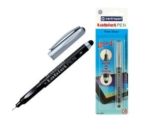 Dotykové pero + černý liner 0,35mm, Centropen 2691 (tablet pen)