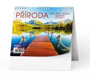 Kalendář stolní Příroda, hory, řeky, jezera, 2020