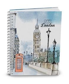 """Diář týdenní Egon, lamino, twin wire, """"London"""" 2020, plánovací záznamník"""