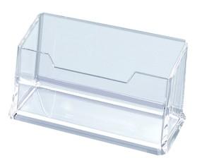Stojan na vizitky průhledný plastový