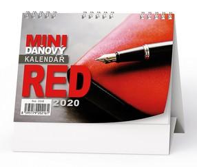 Kalendář stolní RED - mini daňový, 2020