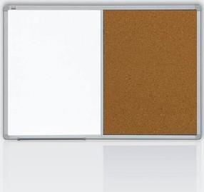Tabule kombinovaná  60*90, korek/bílá tabule, hliníkový rám