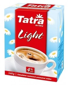 Mléko Tatra Light 4% tuku 340 ml. (12ks)