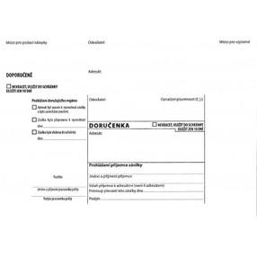 DORUČENKA bez pruhu (bílá), B6 (125x176mm)  samopr.odtrh.okno, samolepící, POUČENÍ,1147928