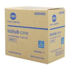 Toner Konica Minolta A0X5455 pro C3110, modrý, TNP51C (5.000 str.) orig.