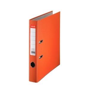 Pořadač pákový Esselte PP oranžový 50mm - celoplast