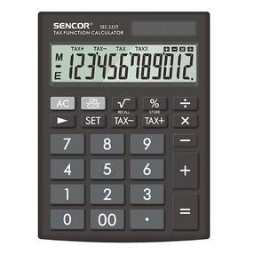 Kalkulačka stolní velká - Sencor SEC 333T, černá, stolní, dvanáctimístná, duální napájení