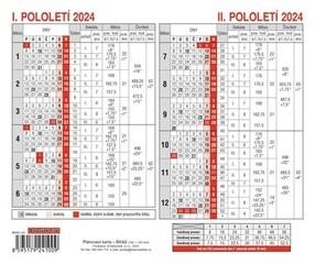 Kalendář plánovací lístkový, 2020, plánovací karta