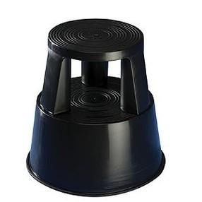 Stolička pojízdná plastová (pojizdné stupátko) černá