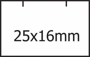 Etikety cenové 25x16 Contact (hranaté) bílé, ks