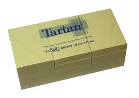Bloček samolepící   38x 51mm, 12x100  žlutých lístků, 3M-Tartan