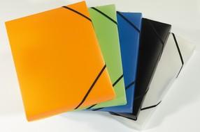 Krabice na spisy 3 klopá OPALINE oranžová
