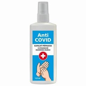 Dezinfekční roztok na ruce, Anti-COVID, 125 ml