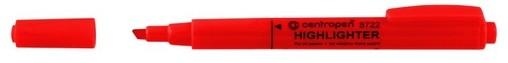 Zvýrazňovač Centropen 8722 červený