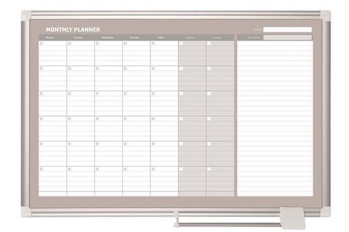 Tabule bílá plánovací měsíční 60 * 90 magnetická, hliníkový rám