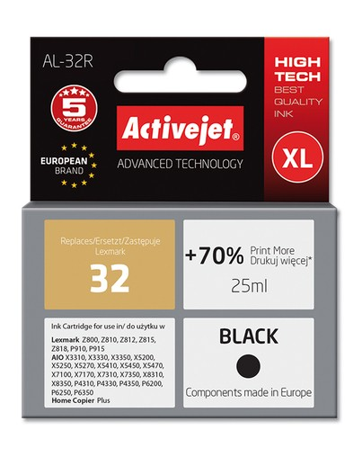 Cartridge Lexmark 18C0032E černá č.32 (23ml.) ActiveJet standard (AL-32R)