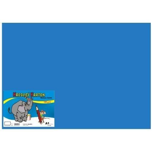 Kreslící karton A4, 50 listů - tmavě modrý